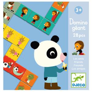 Ντόμινο διαδοχικών εικόνων της εταιρίας Djeco. Τοποθετείστε τις όμοιες εικόνες τη μια δίπλα στην άλλη και σχηματίστε σειρές με σχέδια και χρώματα! Ένα παιχνίδι κατασκευής 2 όψεων