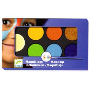 Σετ μακιγιάζ από την εταιρεία Djeco που βοηθάει τους μικρούς μας φίλους να μεταμορφωθούν στους αγαπημένους τους ήρωες! Η παλέτα περιλαμβάνει 6 χρώματα