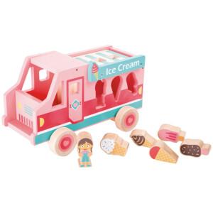 Ροζ φορτηγάκι παγωτατζίδικο