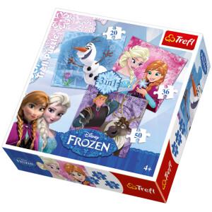 Frozen παζλ 3 σε 1