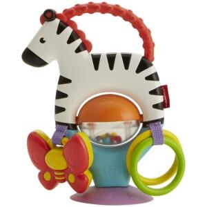 Προσαρμόστε  αυτήν  την  αξιολάτρευτη  ζέβρα  στο  δίσκο  του  μωρού  για  διασκεδαστικό  παιχνίδι  που  θα  αναπτύξει  τις  αισθήσεις  του!  Με  τις  ασπρόμαυρες  ρίγες  της  και  το  χερούλι  οδοντοφυΐας