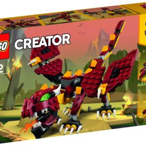 Απόλαυσε μυθικές περιπέτειες με αυτό το απίθανο 3-σε-1 LEGO® Creator σετ. Κατασκεύασε ένα βρυχώμενο Δράκο με πύρινη αναπνοή