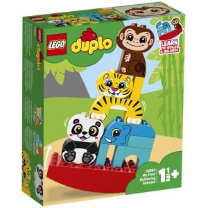 Τα παιδιά νηπιακής ηλικίας θα διασκεδάσουν πολύ καθώς μαθαίνουν να κατασκευάζουν και να ισορροπούν τα LEGO® DUPLO® Τα Πρώτα Μου Ζωάκια Ακροβάτες! Διασκεδάστε στοιβάζοντας τα πολύχρωμα ζώα της ζούγκλας πάνω στην τραμπάλα με πολλούς διαφορετικούς τρόπους και δείτε πώς κουνιέται αυτό το χαριτωμένο παιχνίδι ισορροπίας! Τα πολύχρωμα ζωάκια