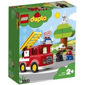 Αναπαραστήστε σενάρια από την πραγματική ζωή με τα LEGO® DUPLO® Town: έναν αναγνωρίσιμο κόσμο με μοντέρνες φιγούρες DUPLO. Βοηθήστε το μικρό σας πυροσβέστη να σώσει την κατάσταση με το Πυροσβεστικό Φορτηγό για παιδιά