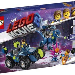 Βοήθησε τον Ρεξ και τον Έμμετ να κατασκευάσουν το 3-σε-1 H TAINIA LEGO 2™ Ρεξτρήμ Όχημα Εκτός Δρόμου του Ρεξ για να προστατευτούν από το Φυτάκι! Πυροδότησε τους εκτοξευτές καρφιών σε αυτό το απίθανο αυτοκίνητο και τον Αναγνωριστικό Ρεξ-ό-σαυρο του Ρεξ. Αφαίρεσε το όπλο από τον ράπτορα και χρησιμοποίησέ το σαν όπλο του Ρεξ. Στη συνέχεια